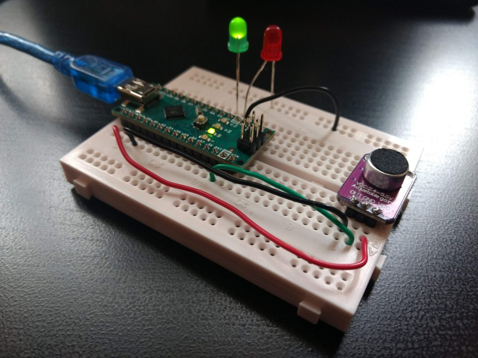 Simple Arduino circuit of voice loudness detector